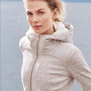 Athleta oatmeal luxe strong hoodie fleece lined